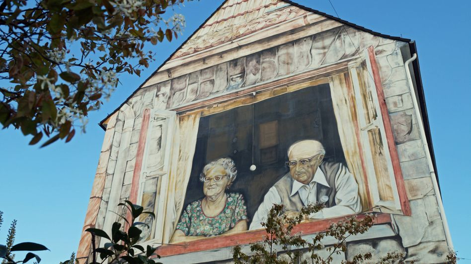 Bemalte Hausfassade in Bremen