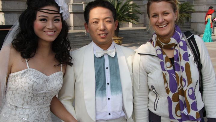 Lustiger Zeitvertreib in Wuhan: Die Hochzeitscrasher