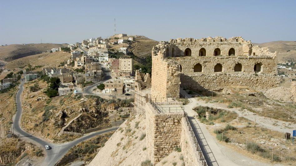 Burg in Kerak, Jordanien