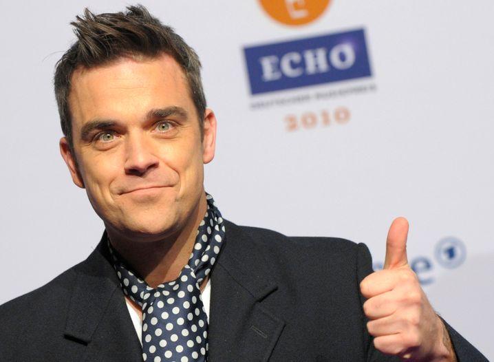 Eins im Sinn: Popstar Robbie Williams zählt auf Sie!