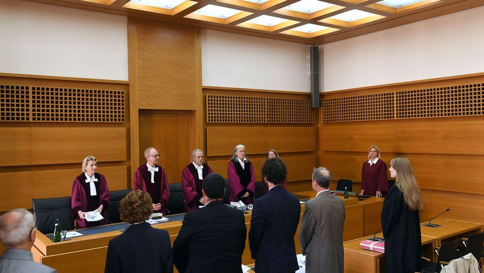Der erste Senat des Bundesverwaltungsgerichts in Leipzig