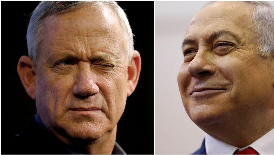 Benny Gantz (l.), Benjamin Netanyahu