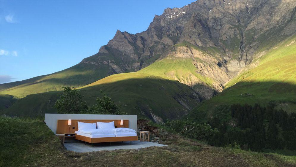 Null-Stern-Hotel in der Schweiz: Konzeptkunst am Berg