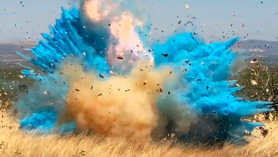 Der blaue Rauch enthüllt das Geschlecht eines ungeborenen Babys - und zündet unter Umständen einige Hektar Land an