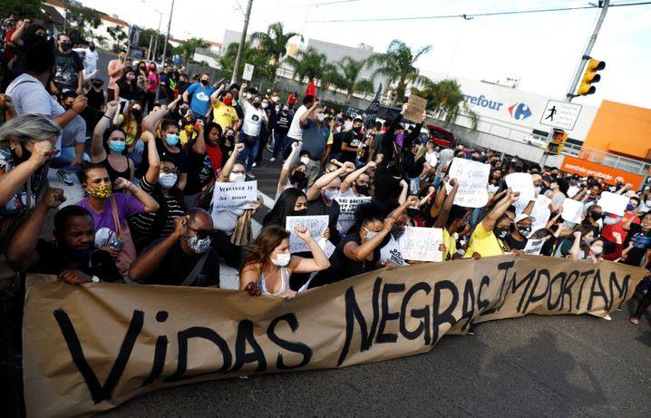Im ganzen Land protestierten Brasilianer gegen die Gewalt