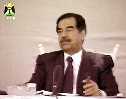 Im Visier von Amerikanern und Exil-Irakern: Saddam Hussein