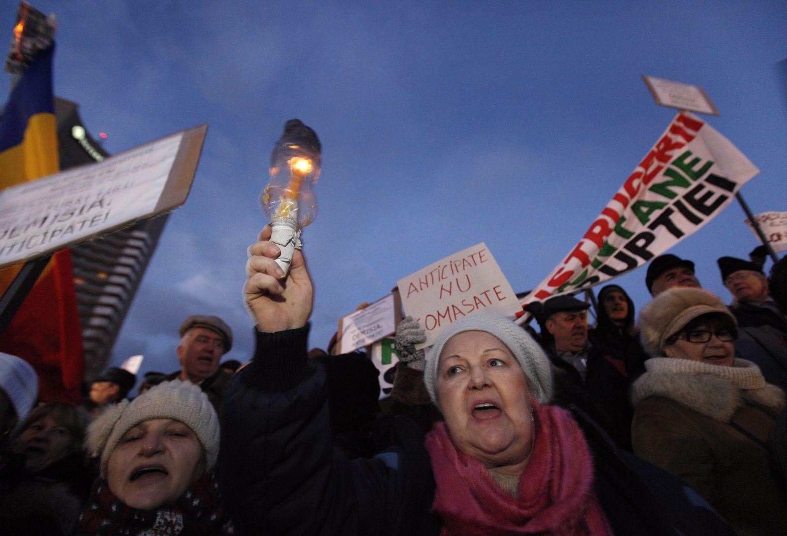 Demonstration in Bukarest