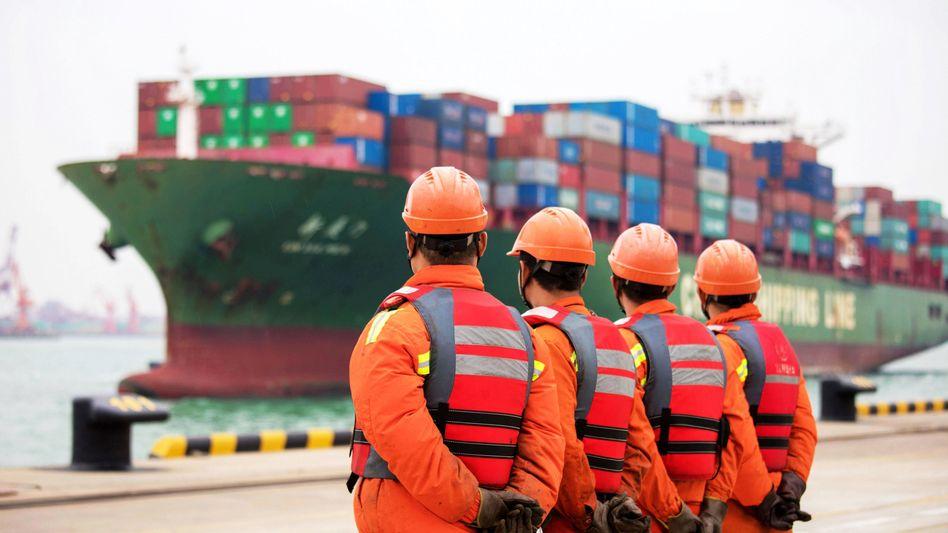 Hafen im chinesischen Qingdao: Hohe Nachfrage dank Corona-Sonderkonjunktur