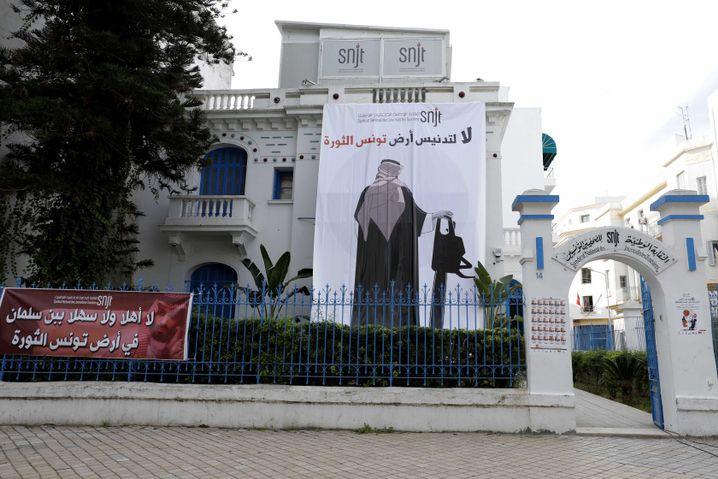 Protestplakat in Tunesien