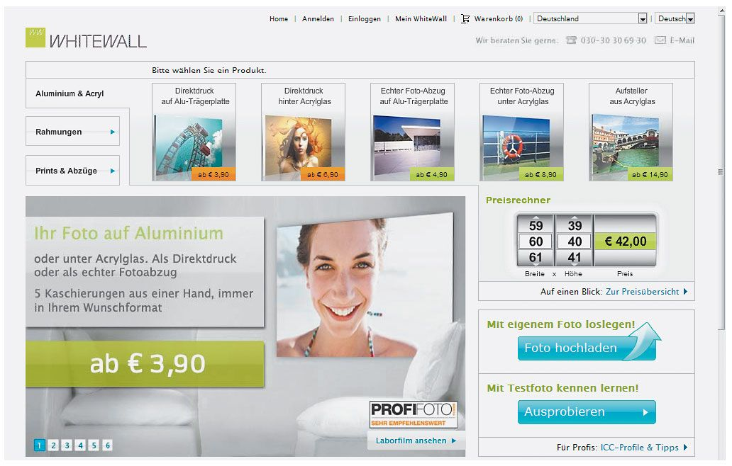 Posterdruck / Screenshot Whitewall