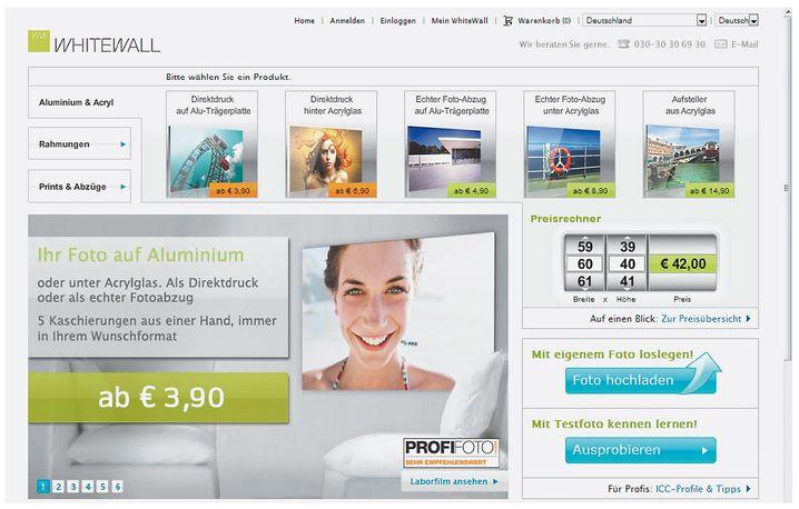 Whitewall: aggressive Preise und etwas aufdringliche Werbung, aber auch eine durchdachte Kundenführung und zahlreiche Optionen, die kaum Wünsche offen ließen