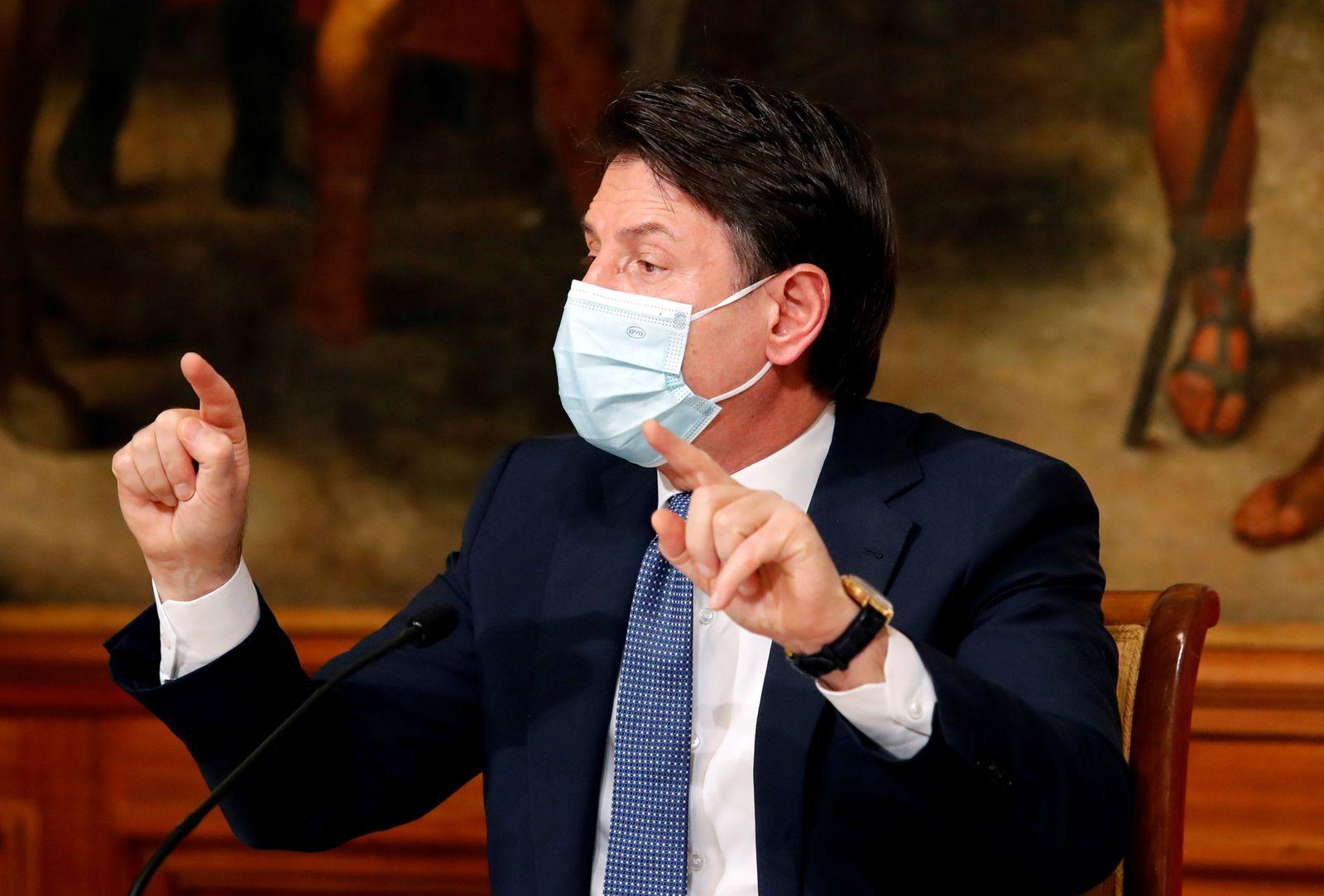 FILE PHOTO: Italian Prime Minister Giuseppe Conte