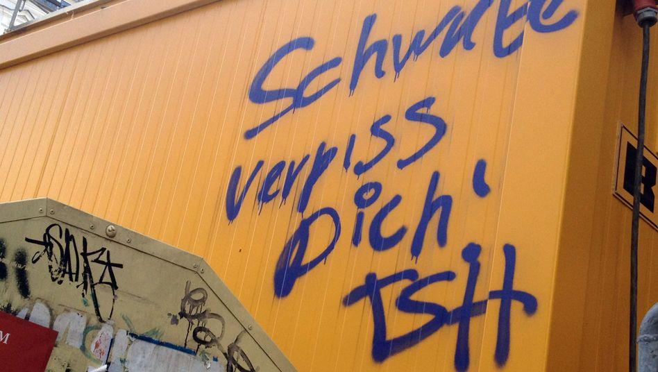 "Wandschmiererei gegen zugezogene Schwaben in Berlin: ""Unsägliche Aktion"""