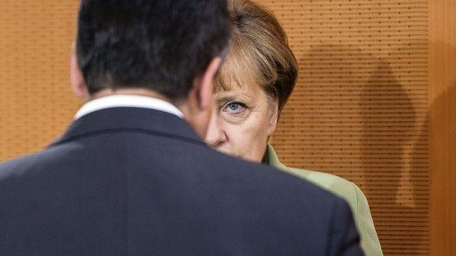 Koalitionspartner Gabriel, Merkel