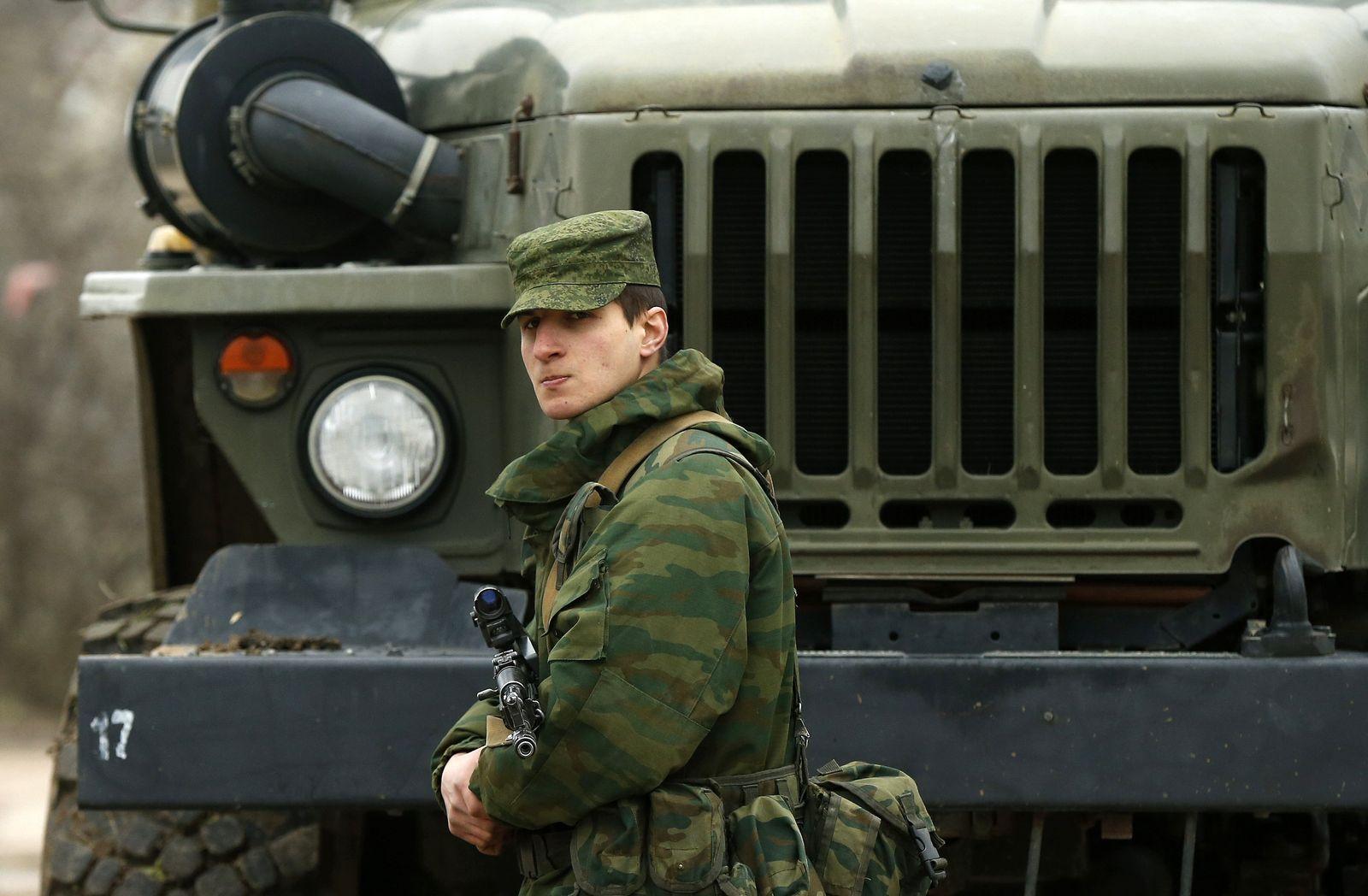 Soldat bei Sewastopol