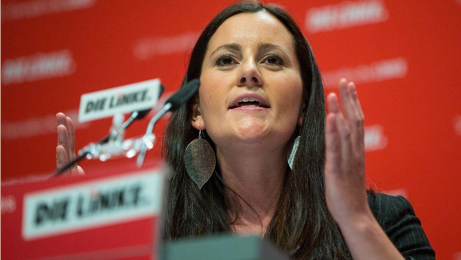 Linkenvorsitzende Janine Wissler: »Bemerkenswert«