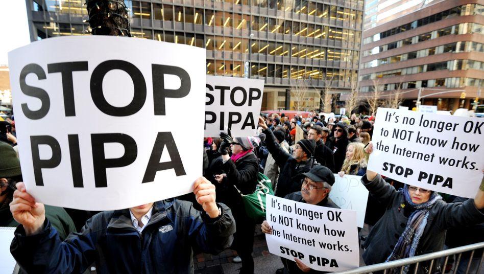 Anti-Pipa-Protest in den USA: Enormer Lobbyaufwand für ein umstrittenes Gesetz