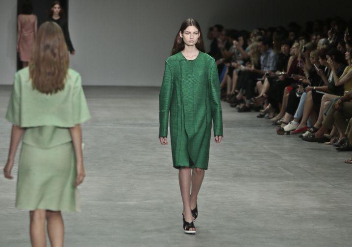 Grüne Energie: Models bei Calvin Klein