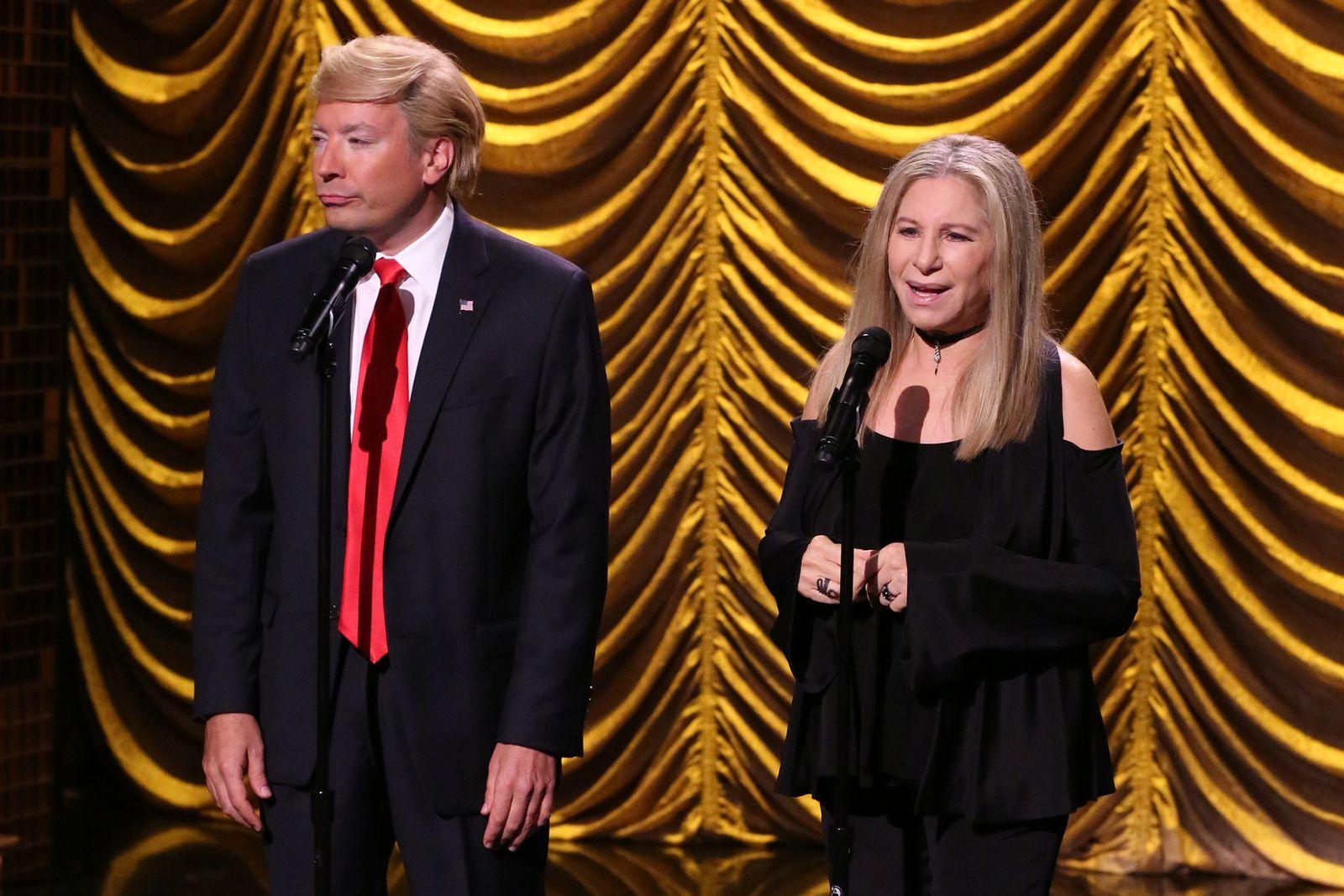 EINMALIGE VERWENDUNG Barbra Streisand/ Trump