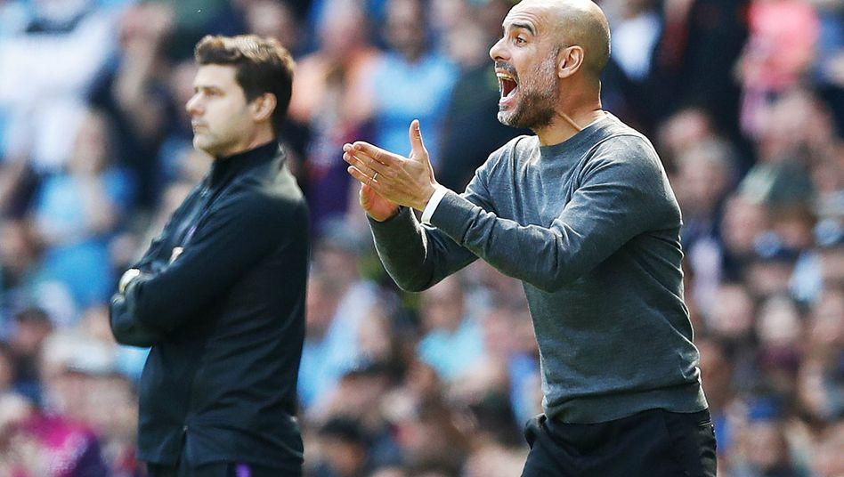Pep Guardiola (r.) und Mauricio Pochettino