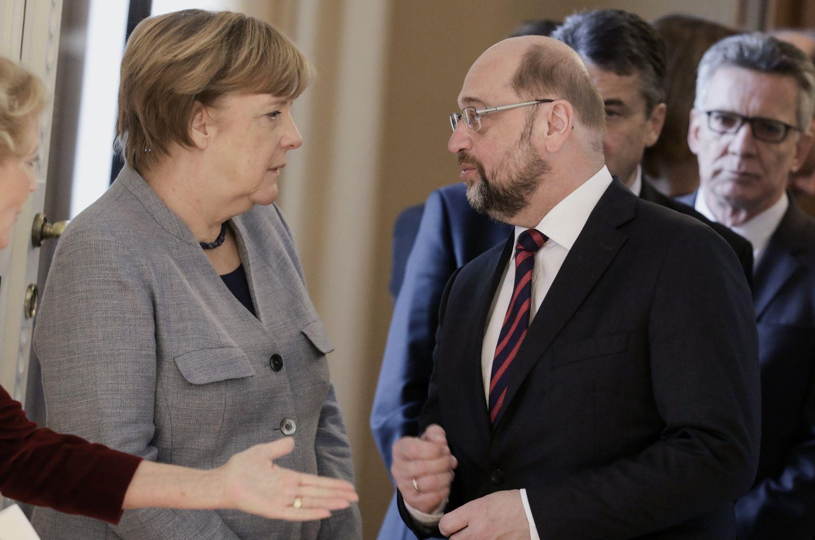 Merkel, Schulz