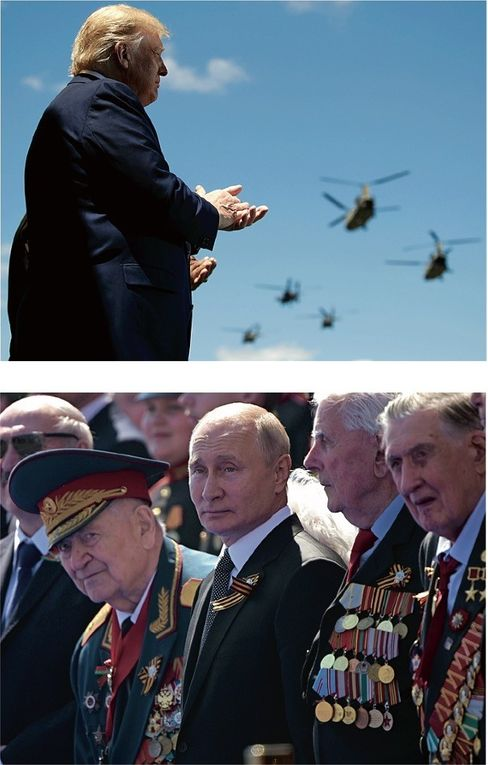 """U.S. President Donald Trump (above) and Russian President Vladimir Putin (below): """"We are returning to the days of the 1950s and 1960s."""""""