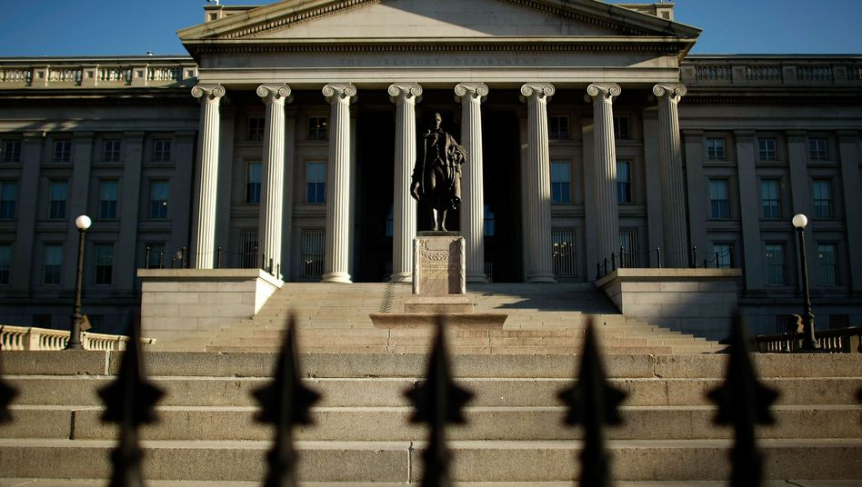 The US Treasury Department building in Washington. Euro-zone governments could learn a lot about dealing with the debt crisis by looking at the US Brady Plan in the 1980s.