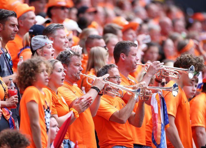 Die niederländischen Fans verbreiteten gute Stimmung