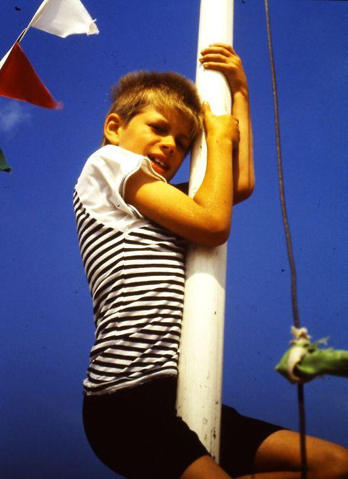 Der Autor im Juli 1991; 8 Jahre alt