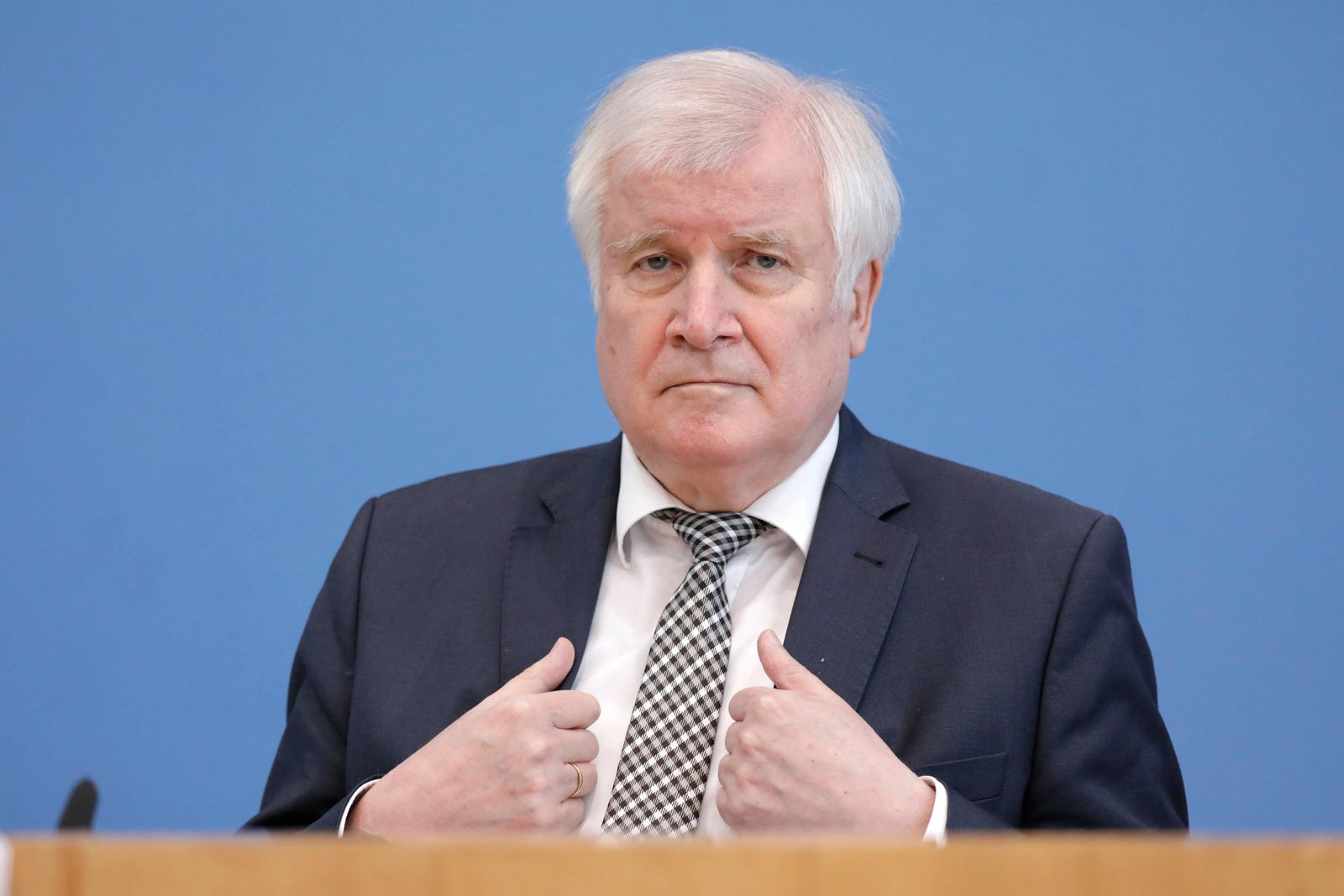 Horst Seehofer, Bundesminister des Innern, fuer Bau und Heimat, CSU, PK zu - Hochwasserhilfen des Bundes, DEU, Berlin, 2