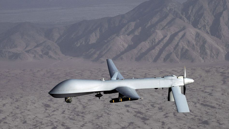 An American Predator drone: Several German Islamists are believed to have been killed in a drone strike in Pakistan.