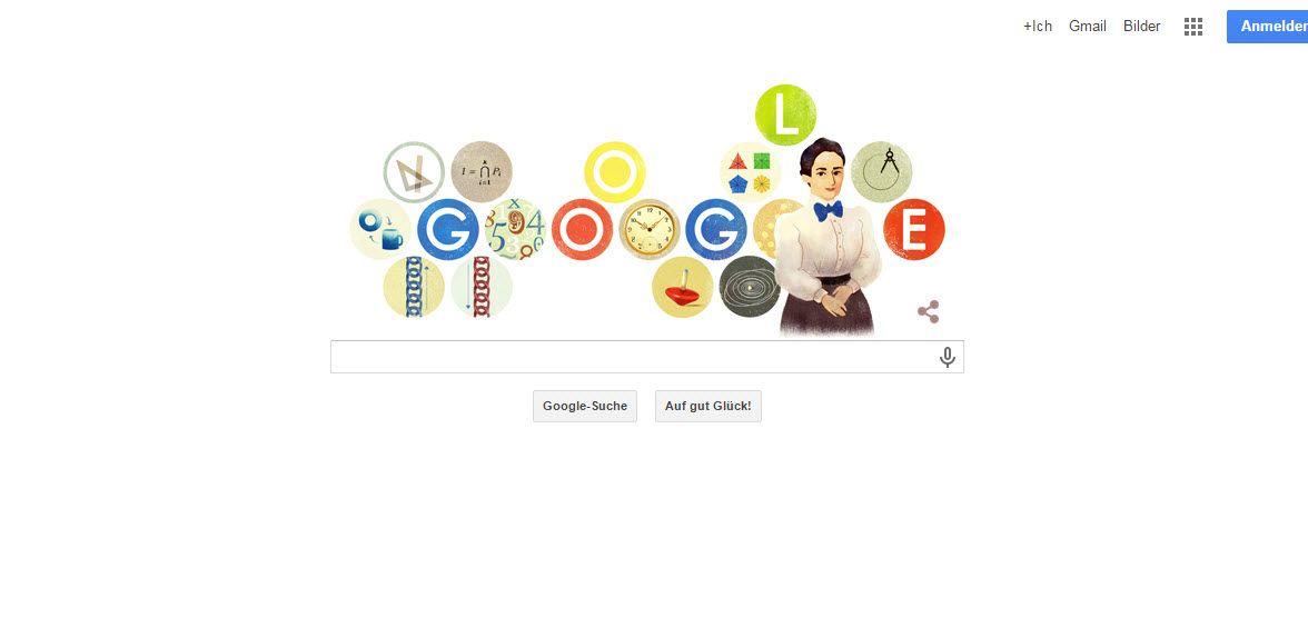 EINMALIGE VERWENDUNG SCREENSHOT Google Doodle