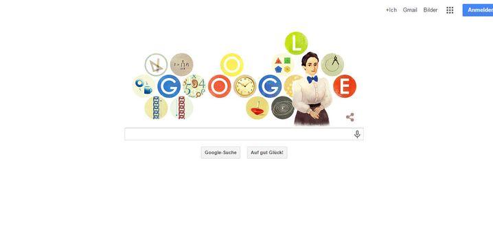 Ehrung von Google: Das Doodle für Emmy Noether
