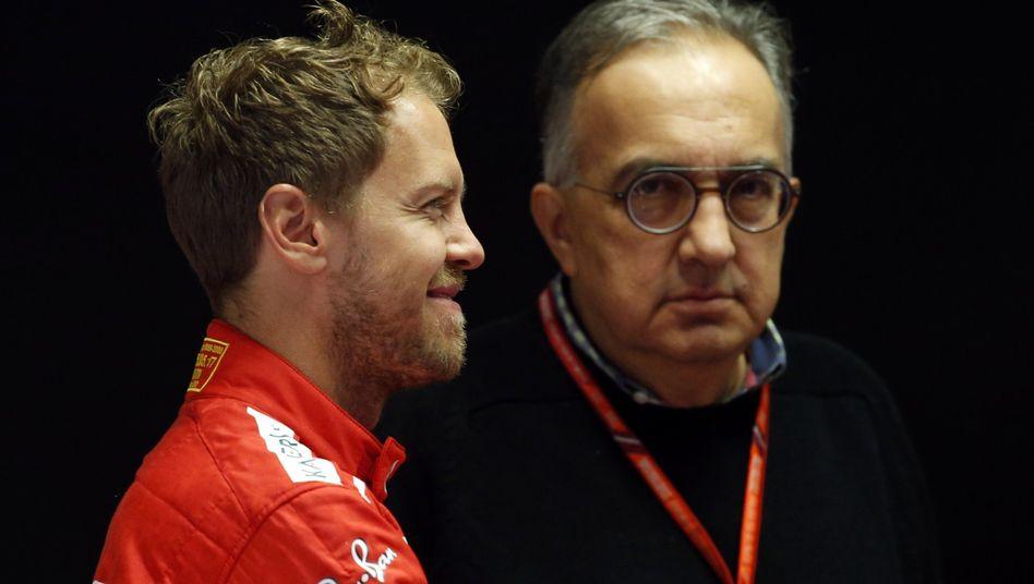 Sebastian Vettel und der verstorbene Sergio Marchionne