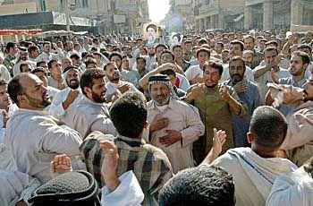 Heiliger Zorn: Aufgebrachte Demonstranten in Nadschaf