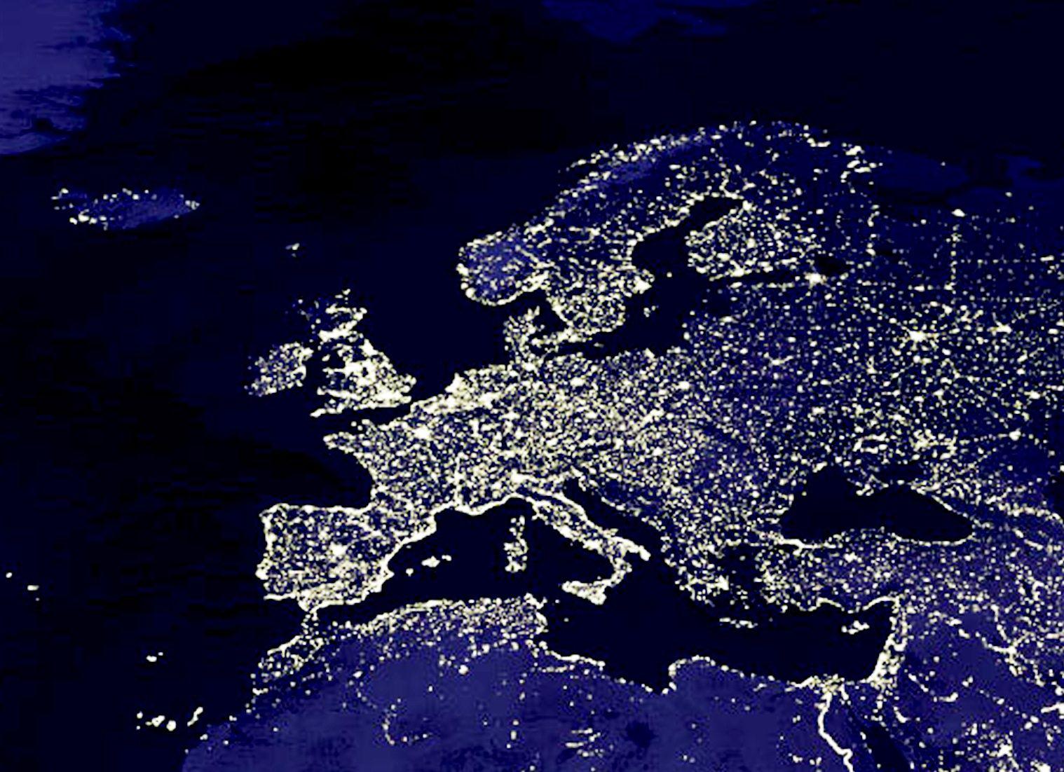 NICHT VERWENDEN Europa Satellitenbild Eurasien