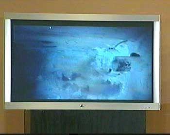 Endstation: Videobild des Erdlochs