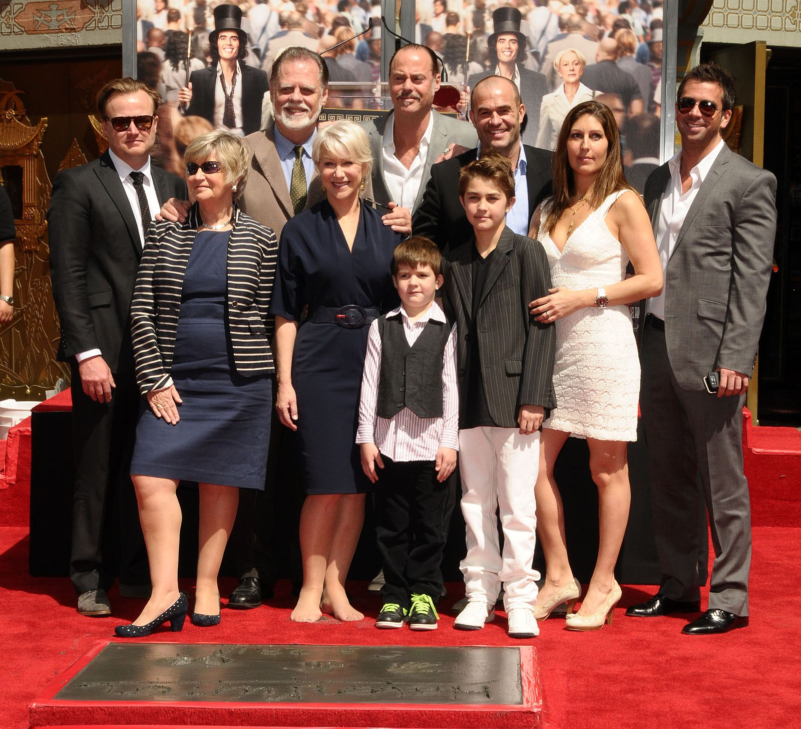 Helen Mirren Hand And Footprint Ceremony At Grauman's Chinese Theatre