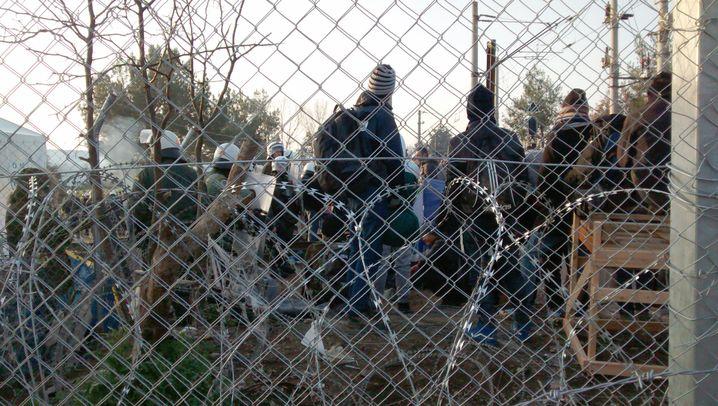 Flüchtlinge: Chaos an der Grenze zwischen Griechenland und Mazedonien