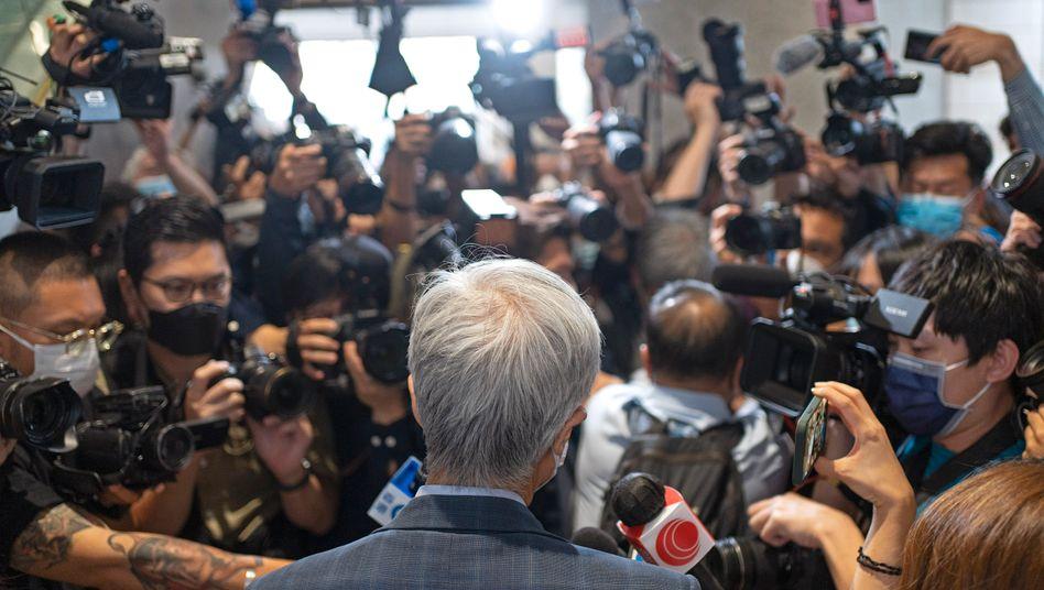 Martin Lee nach der Urteilsverkündung