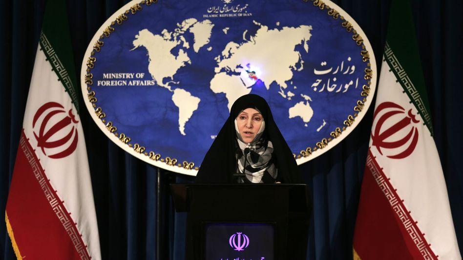 """Iranische Außenamtssprecherin Afcham: """"Jede Vorbedingung abgelehnt"""""""
