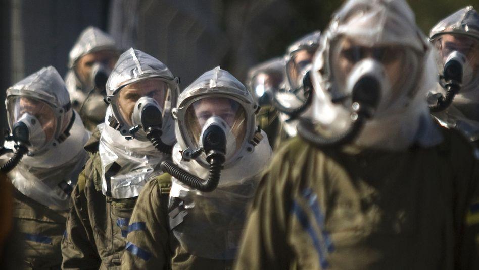 Israelische Soldaten (Februar 2009 bei Tel Aviv): Angst vor Giftgas