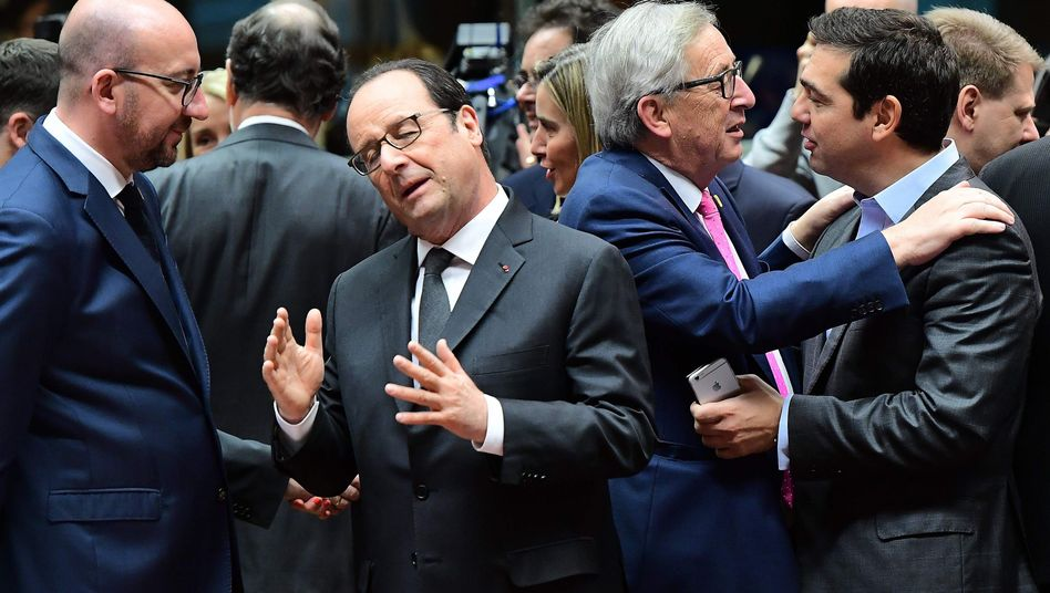 EU-Gipfelteilnehmer in Brüssel