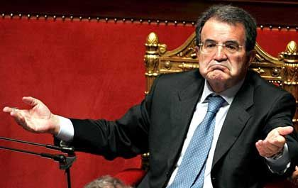 Italian Prime Minister Romano Prodi, shown here in a May 2006 file photo, hangs on in power despite continually being written off.