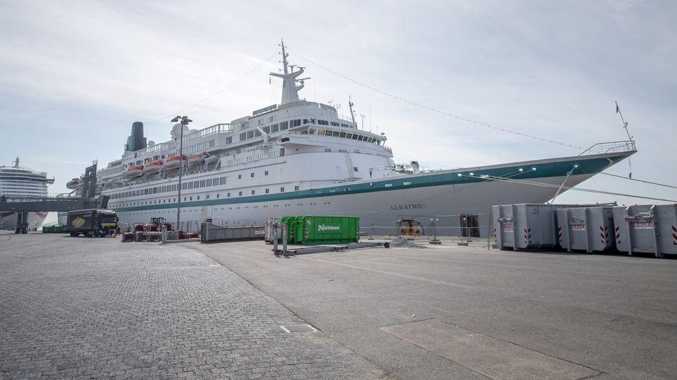 """Kreuzfahrtschiff """"Albatros"""" (am 8. April in Bremerhaven): vor Kurzem im Mittelmeer unterwegs"""