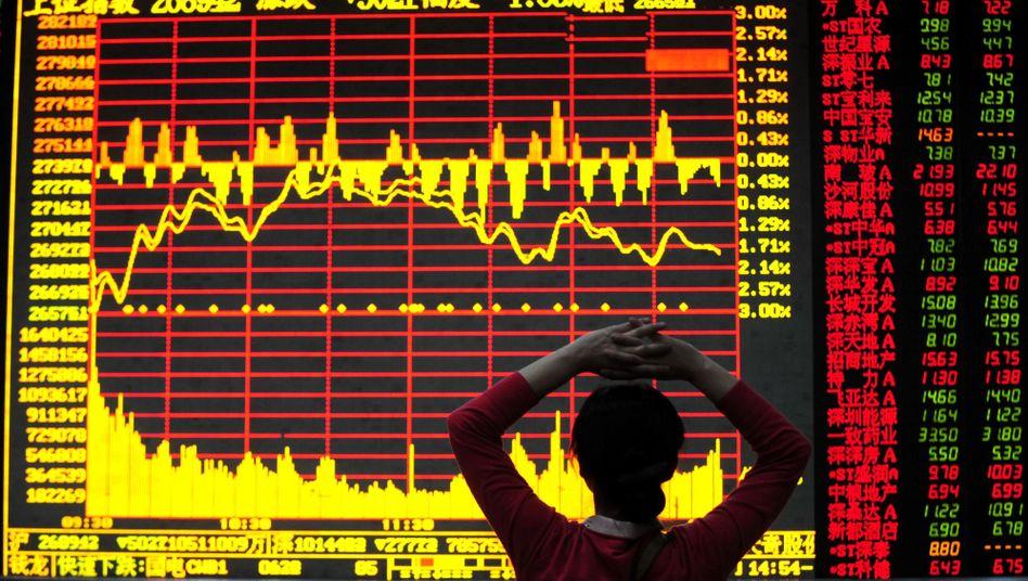 Börse im chinesischen Hefei: Investoren setzen auf Aktien aus Industrieländern