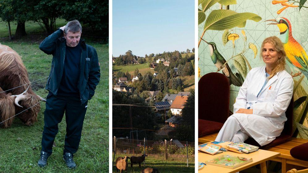 Idylle in Dorfchemnitz: 1500 Einwohner, keine zehn Kilometer von der tschechischen Grenze entfernt