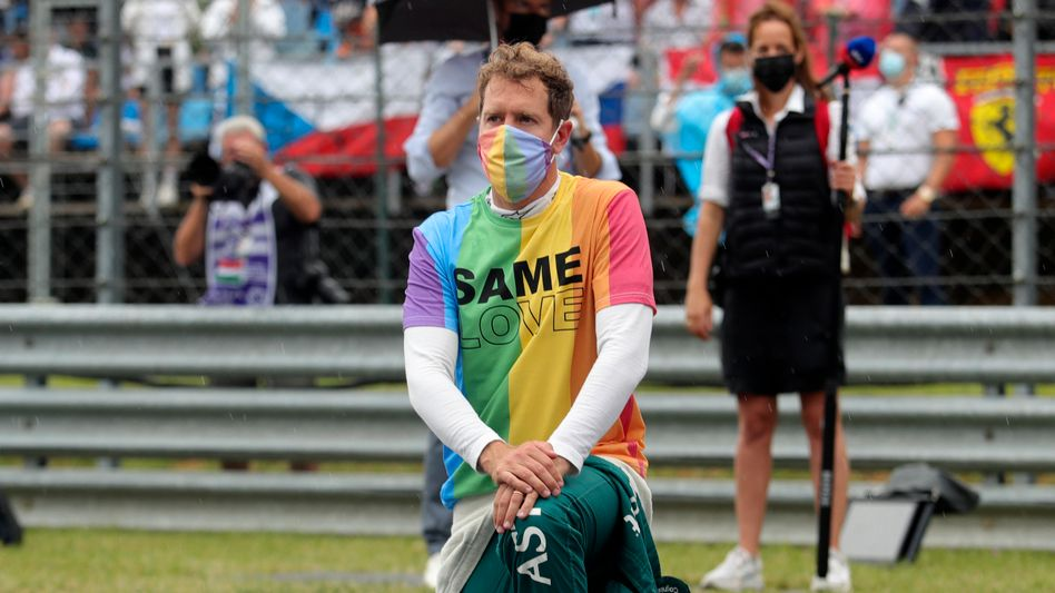Sebastian Vettel setzt sich für die Rechte Homosexueller und die LGBTQ+-Community in Ungarn ein