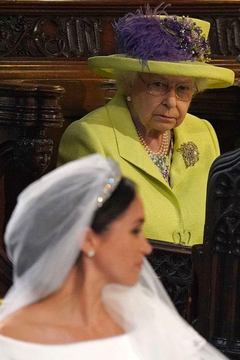 Elizabeth II. bei der Hochzeit von Meghan und Harry 2018