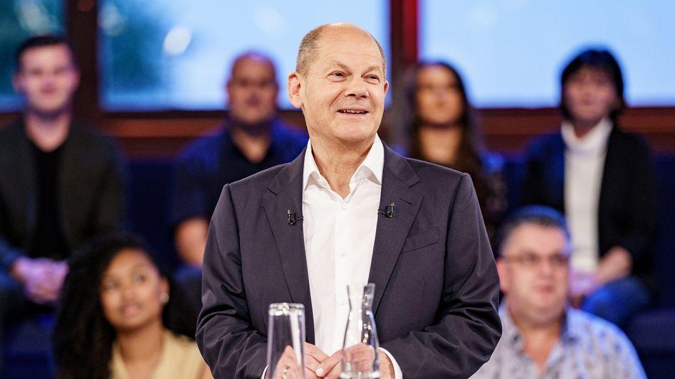 Olaf Scholz in der ARD-»Wahlarena«: Senkung ursprünglich nur für ein Jahr geplant